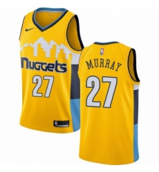 Mens Nike Denver Nuggets 27 Jamal Murray Authentic Gold Alternate NBA Jersey Statement Edition