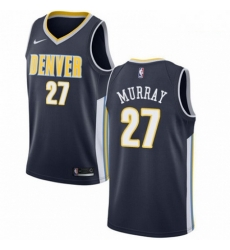 Mens Nike Denver Nuggets 27 Jamal Murray Authentic Navy Blue Road NBA Jersey Icon Edition