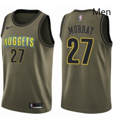 Mens Nike Denver Nuggets 27 Jamal Murray Swingman Green Salute to Service NBA Jersey