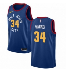 Mens Nike Denver Nuggets 34 Devin Harris Authentic Light Blue Alternate NBA Jersey Statement Edition