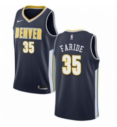 Mens Nike Denver Nuggets 35 Kenneth Faried Swingman Navy Blue Road NBA Jersey Icon Edition