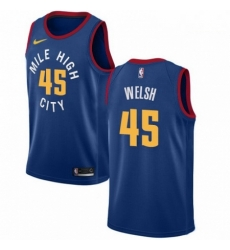 Mens Nike Denver Nuggets 45 Thomas Welsh Swingman Light Blue NBA Jersey Statement Edition