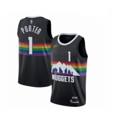 Youth Denver Nuggets #1 Michael Porter Swingman Black Basketball Jersey - 2019 20 City Edition