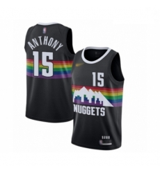 Youth Denver Nuggets #15 Carmelo Anthony Swingman Black Basketball Jersey - 2019 20 City Edition