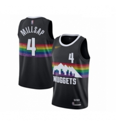 Youth Denver Nuggets #4 Paul Millsap Swingman Black Basketball Jersey - 2019 20 City Edition