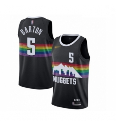 Youth Denver Nuggets #5 Will Barton Swingman Black Basketball Jersey - 2019 20 City Edition