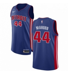 Mens Nike Detroit Pistons 44 Rick Mahorn Authentic Royal Blue Road NBA Jersey Icon Edition
