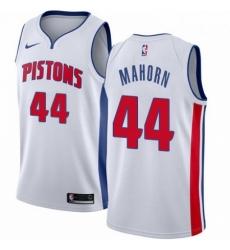 Mens Nike Detroit Pistons 44 Rick Mahorn Swingman White Home NBA Jersey Association Edition