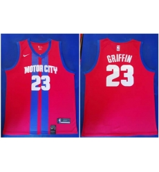 Pistons 23 Blake Griffin Red 2019 20 City Edition Nike Swingman Jersey