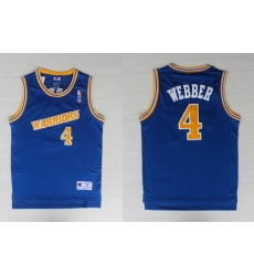 Adidas NBA Golden State Warriors 4 Webber Swingman Throwback Blue Jersey