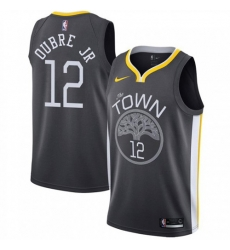 Men Nike Golden State Warriors 12 Kelly Oubre Jr Black NBA Swingman Statement Edition Jersey
