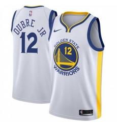 Men Nike Golden State Warriors 12 Kelly Oubre Jr White NBA Swingman Association Edition 2019 2020 Jersey