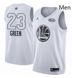 Mens Nike Jordan Golden State Warriors 23 Draymond Green Swingman White 2018 All Star Game NBA Jersey