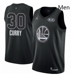 Mens Nike Jordan Golden State Warriors 30 Stephen Curry Swingman Black 2018 All Star Game NBA Jersey