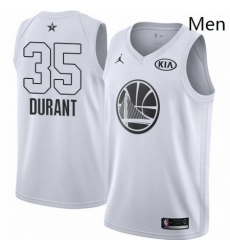 Mens Nike Jordan Golden State Warriors 35 Kevin Durant Swingman White 2018 All Star Game NBA Jersey
