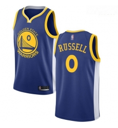 Warriors #0 D 27Angelo Russell Blue Basketball Swingman Icon Edition Jersey