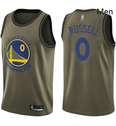 Warriors #0 D 27Angelo Russell Green Basketball Swingman Salute to Service Jersey