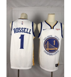 Warriors 1 D 27angelo Russell White City Edition Nike Swingman Jersey