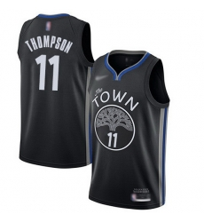 Warriors  11 Klay Thompson Black Basketball Swingman City Edition 2019 20 Jersey