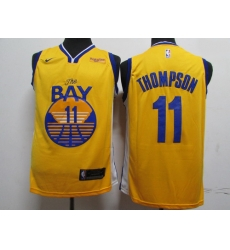 Warriors 11 Klay Thompson Blue 2020 New Nike Swingman Jersey