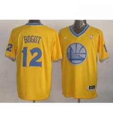 Warriors 12 Andrew Bogut Gold 2013 Christmas Day Swingman Stitched NBA Jersey