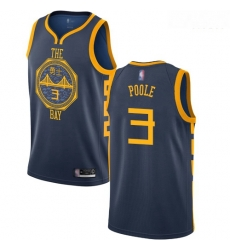 Warriors #3 Jordan Poole Navy Basketball Swingman City Edition 2018 19 Jersey