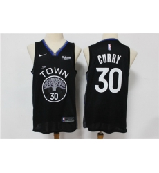 Warriors 30 Stephen Curry Black 2019 20 City Edition Nike Swingman Jersey