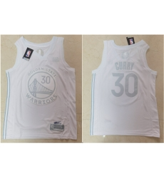 Warriors 30 Stephen Curry White Nike Swingman MVP Jersey