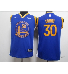 Youth Warriors 30 Stephen Curry Blue Youth 2020 New Nike Swingman Jersey