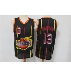 Men Houston Rockets 13 James Harden Black Hardwood Classics Jersey