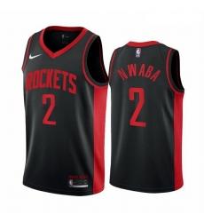 Men Houston Rockets 2 David Nwaba Black NBA Swingman 2020 21 Earned Edition Jersey