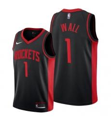 Men Houston Rockets John Wall Black 2021 Edition Jerseys