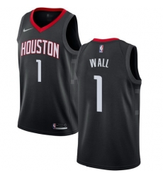 Men Nike Houston Rockets 1 John Wall Black NBA Swingman Statement Edition Jersey
