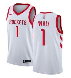 Men Nike Houston Rockets 1 John Wall White NBA Swingman Association Edition Jersey