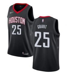 Men Nike Houston Rockets 25 Jerian Grant Black NBA Swingman Statement Edition Jersey