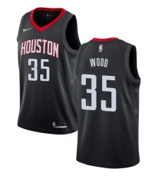 Men Nike Houston Rockets 35 Christian Wood Black NBA Swingman Statement Edition Jersey