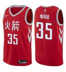 Men Nike Houston Rockets 35 Christian Wood Red NBA Swingman City Edition Jersey
