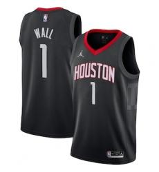 Men's Houston Rockets John Wall Black Nike Association Swingman Jersey
