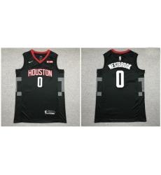 Rockets 0 Russell Westbrook Black Nike Swingman Jersey 2