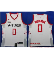 Rockets 0 Russell Westbrook White 2019 20 Nike City Edition Swingman Jersey