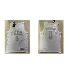 Rockets 0 Russell Westbrook White 2020 Nike MVP Swingman Jersey