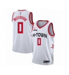 Rockets 0 Russell Westbrook White Basketball Swingman City Edition 2019 20 Jersey
