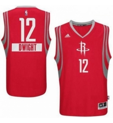 Rockets 12 Dwight Howard Red 2014 15 Christmas Day Stitched NBA Jersey