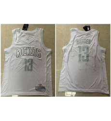 Rockets 13 James Harden White Nike Swingman MVP Jersey