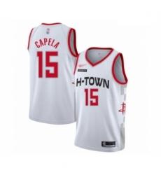 Rockets 15 Clint Capela White Basketball Swingman City Edition 2019 20 Jersey