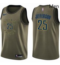 Mens Nike Indiana Pacers 25 Al Jefferson Swingman Green Salute to Service NBA Jersey