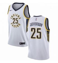 Mens Nike Indiana Pacers 25 Al Jefferson Swingman White NBA Jersey Association Edition