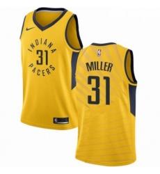 Mens Nike Indiana Pacers 31 Reggie Miller Swingman Gold NBA Jersey Statement Edition