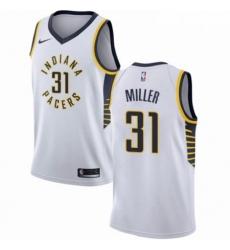 Mens Nike Indiana Pacers 31 Reggie Miller Swingman White NBA Jersey Association Edition