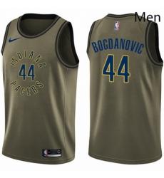 Mens Nike Indiana Pacers 44 Bojan Bogdanovic Swingman Green Salute to Service NBA Jersey